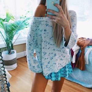 American Eagle Speckled Beachy Pullover